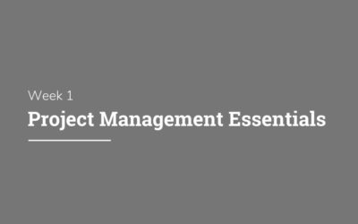 DPM School: Week 1 – Project Management Essentials